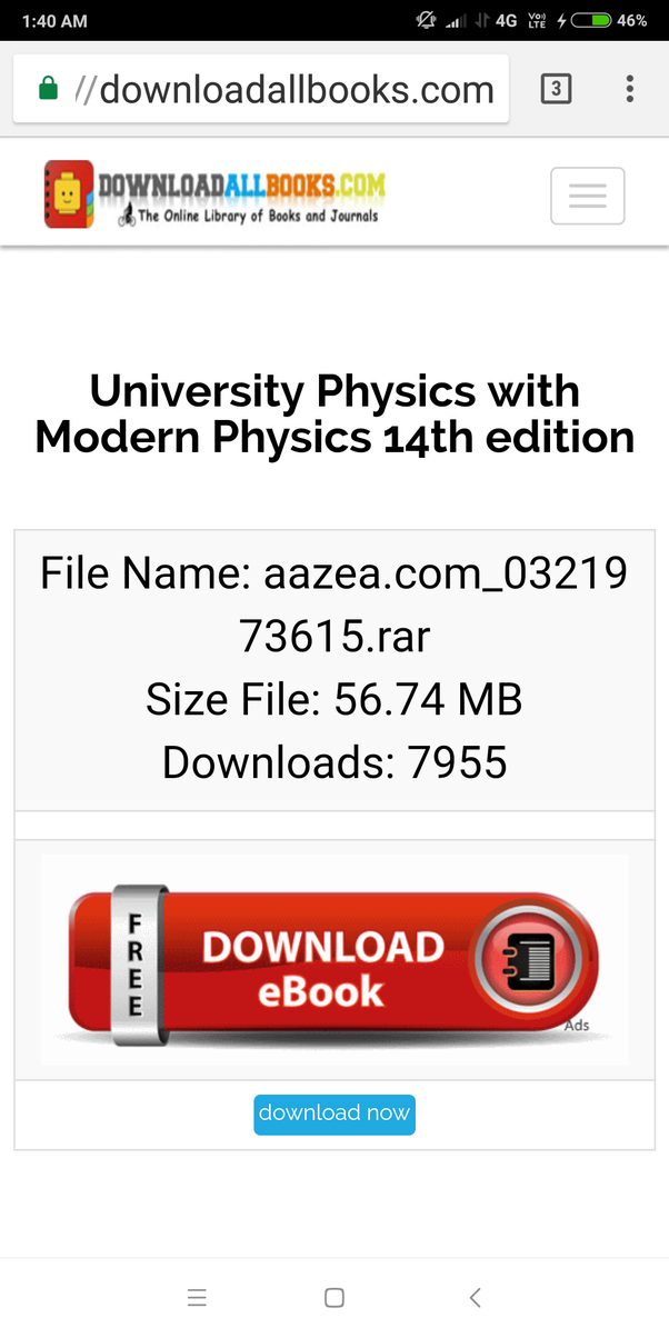 Where can i get a free pdf of sears and zemankys university physics if you still have any problem kindly write in the comments section fandeluxe Image collections