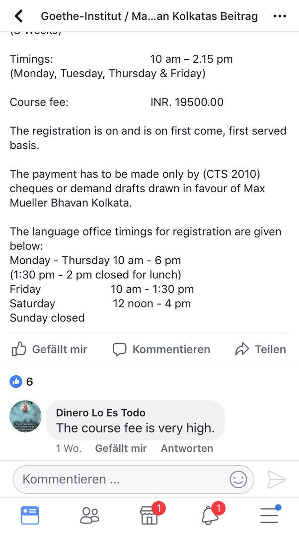 Is it worth it to pay for German classes at the Goethe Institute