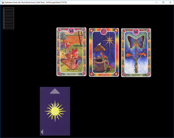 Each card has its own meaning: