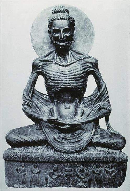 what does an emaciated buddha statue represent quora