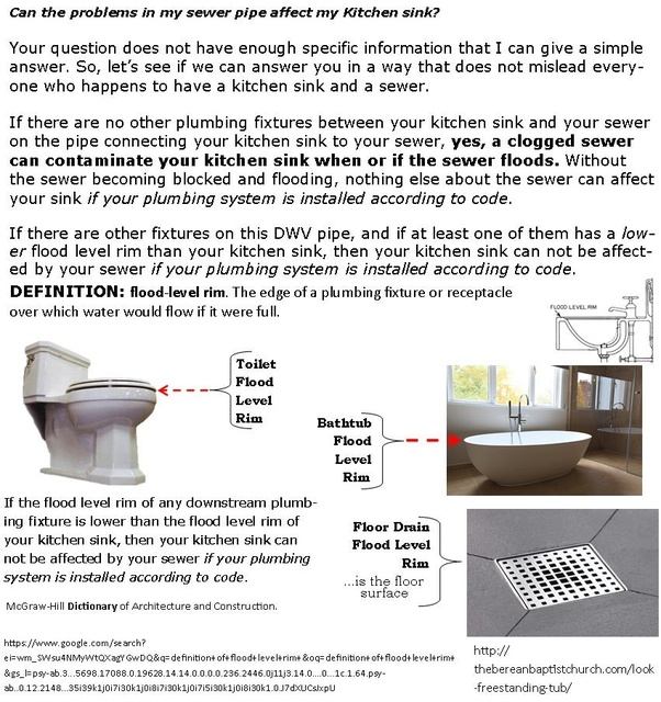 Can the problems in my sewer pipe affect my Kitchen sink ...
