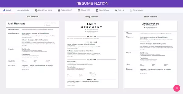 ... Recently Because I Feel Resume Building Should Be Quick And Fun To Do  Thing. So, I Have Keep It Fairly Minimalistic And Feature Rich At The Same  Time.  Resume Building App