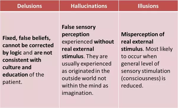 Lovely Image/source: Delusions Vs Hallucinations Vs Illusions