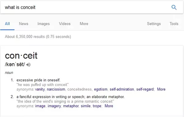 Whats a conceit