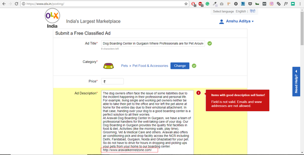 How to attach a web link in an OLX ad - Quora