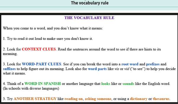 Vocabulary unit 5 ela5r3 the student understands and acquires new.