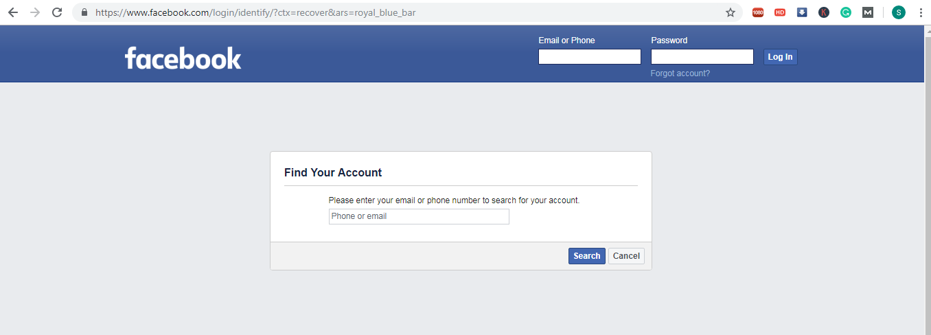 I Forgot My Facebook Password And Email Password How Can I Log Into