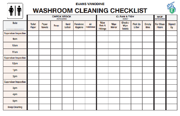 You Can Download The Template Right Here Free Toilet Cleaning Checklist Excel