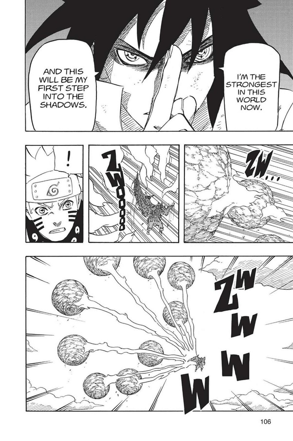 Sasuke's rinnegan gave possession to powers that can easily
