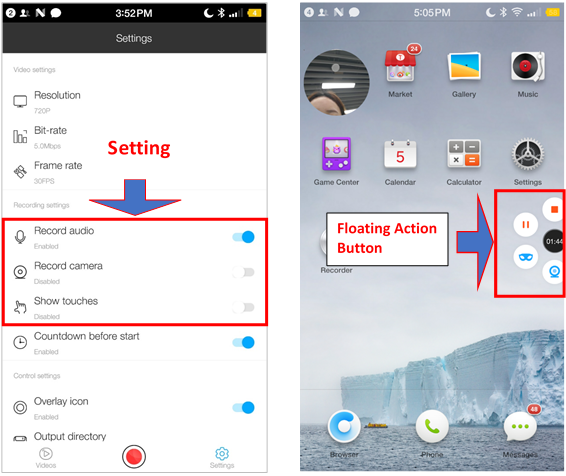 What is the best free screen recorder app with internal