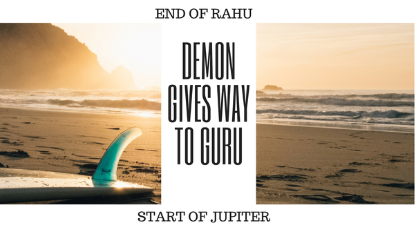 What changes does one see generally immediately after the Rahu