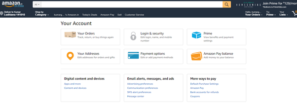 How to change delivery and billing address on flipkart and amazon