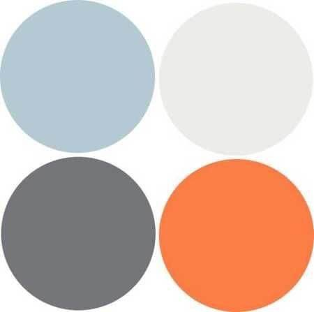 what colors match with orange and grey quora. Black Bedroom Furniture Sets. Home Design Ideas