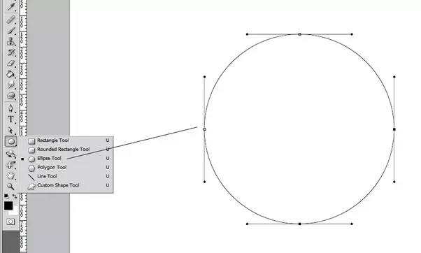 how can we draw a circle only using the pen tool in photoshop what