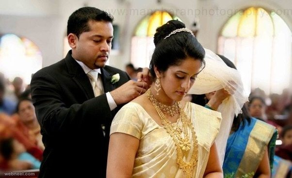Why all Indian Christian brides wear white wedding gowns and not ...