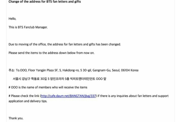 Where how and what address do you send bts fan mail with quora let our boys know how much we all love them happy writing expocarfo