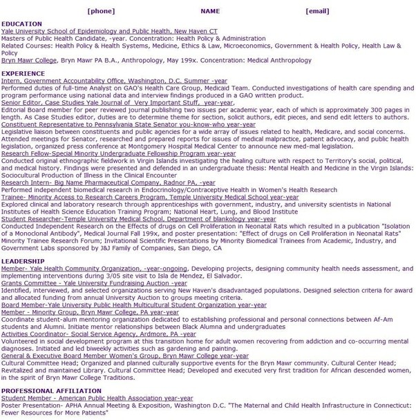 The Over Achiever And The Resume Your Academic Evidence File Quora