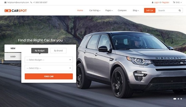 Where Can I Find The Best Collection Of Car Dealer Website Themes - Car dealer website template