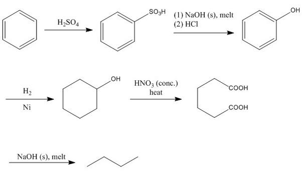 How is benzene converted into n-Butan? - Quora