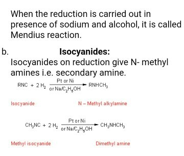 What happens when ethyl isocyanide reacts with an Na/ethanol