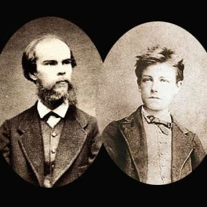Paul Verlaine and Arthur Rimbaud at the ages they met