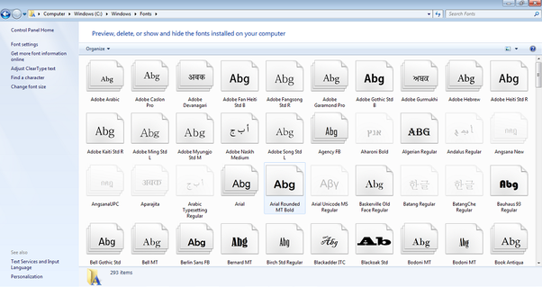 How to install fonts in photoshop cs5 for windows quora cwindowsfonts ccuart Images