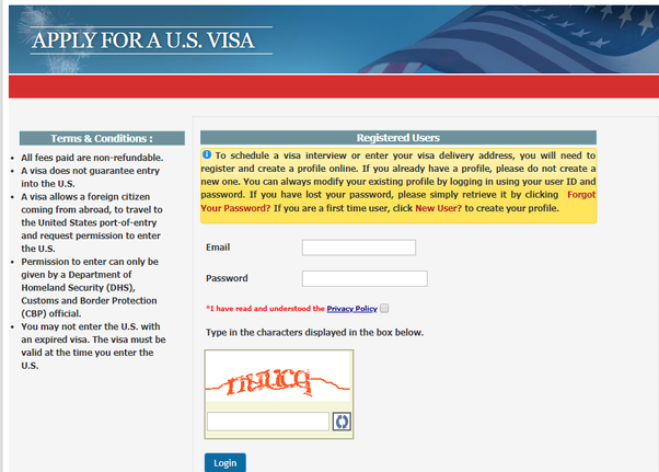 What is the legitimate site to secure a visa interview date