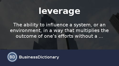 Leverage Ratios Meaning – Definition and Examples - CashStock
