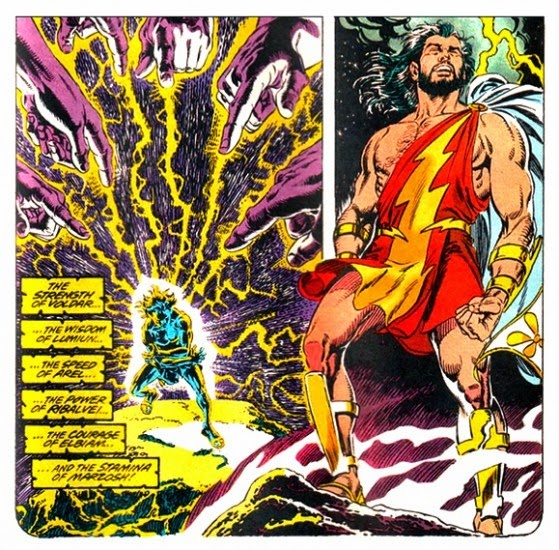How powerful is the Wizard in DC comics that bestowed Shazam