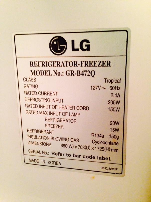 How Many Watts Does My Refrigerator Consume Quora