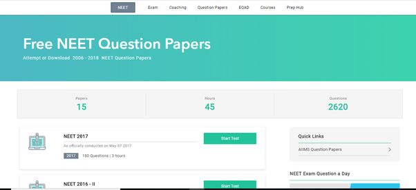 Where can I download last year's NEET PG question papers