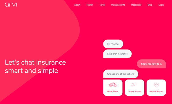 Image result for Ask Arvi: Insurance Via Chatbot