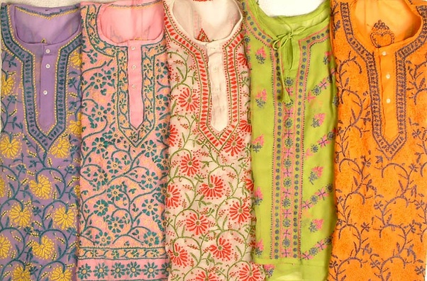 Image result for Chikan Clothes lucknow