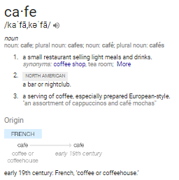 Market Research: What's the difference between a cafe and a