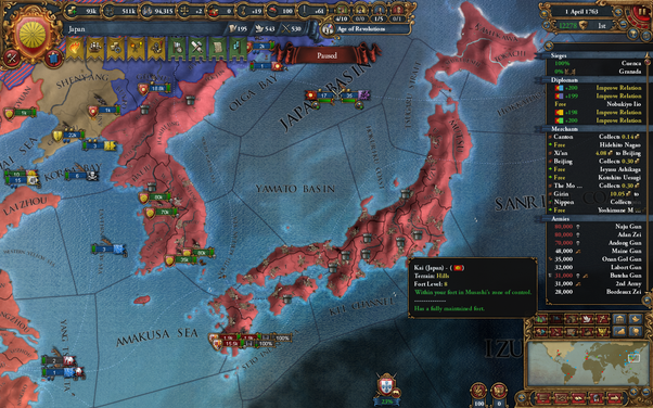 What are some good EU4 strategies after uniting Japan? - Quora