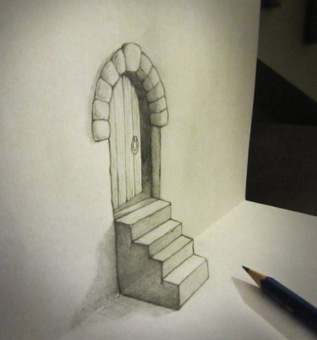 how to draw 3d art step by step for beginners