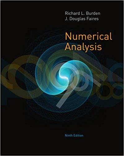 numerical analysis burden 7th edition solution manual