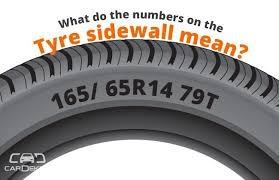 What Do Vehicle Tyre Numbers Sizes Mean