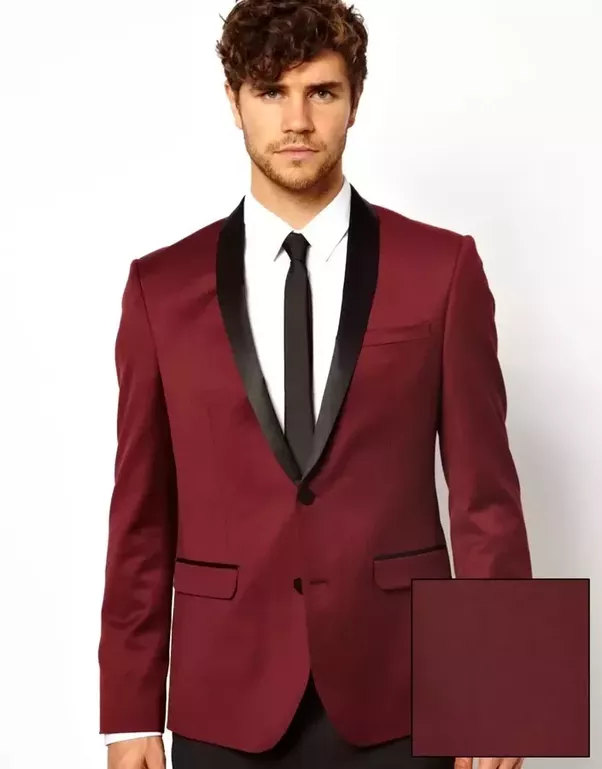 What color of tie is suitable with a wine coloured men\'s suit ...