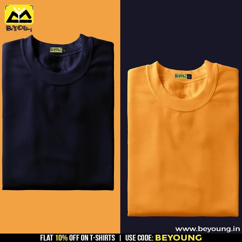 1bd9c39d8a743 Beyoung delivers plain t-shirt all over India with no additional or hidden  charges. You just need to visit the website and order best quality plain t  shirts ...