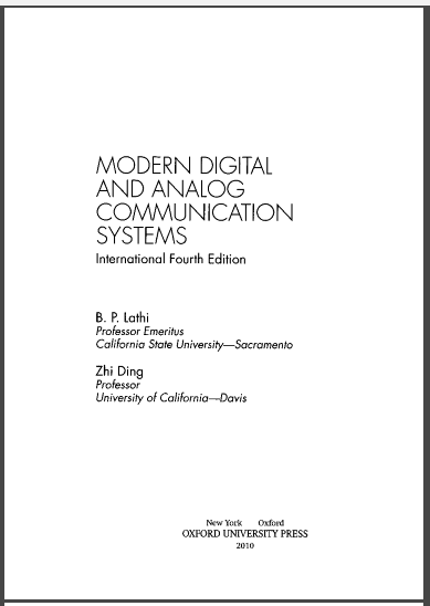 Does anybody have a pdf version of the 4th edition of modern digital b p lathi modern digital and analog communication systems pdf 4th ed fandeluxe Gallery