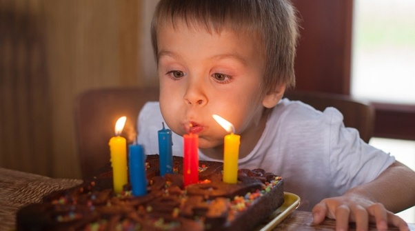 Kid Doesn T Know How To Blow Out Candle