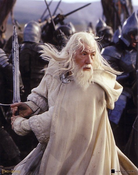 Why does Gandalf the White choose to fight with his sword ...