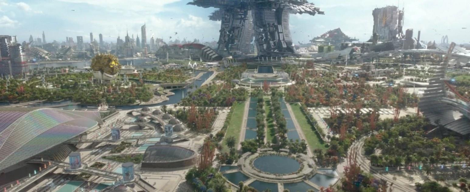 What does the geographic map of the Marvel Cinematic