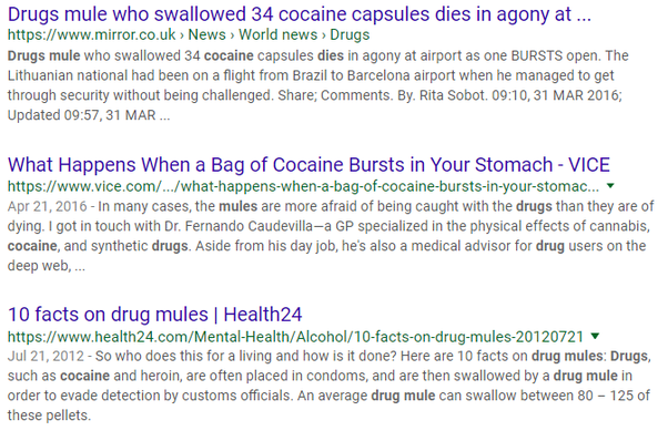What happens if you swallow cocaine? - Quora