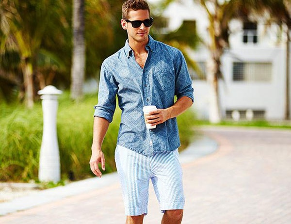"It s not ""unstylish"" to wear a long sleeve shirt with shorts. Your question  isn t a valid one. bbae1bdee40"