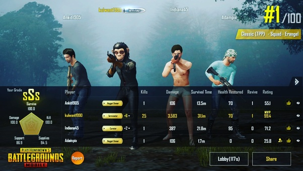 What is the highest number of kills by a squad in a PUBG