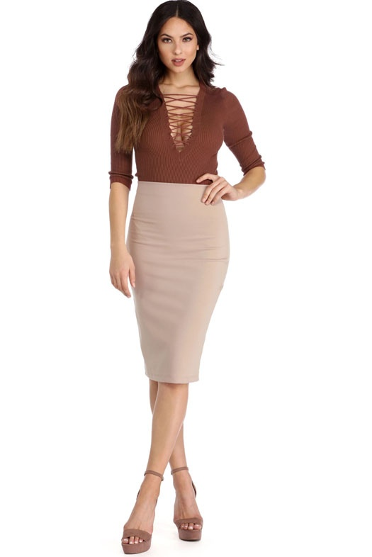 2fad7af0342 A pencil skirt is a slim-fitting skirt with a straight