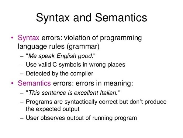 What Are Syntax And Semantics Quora