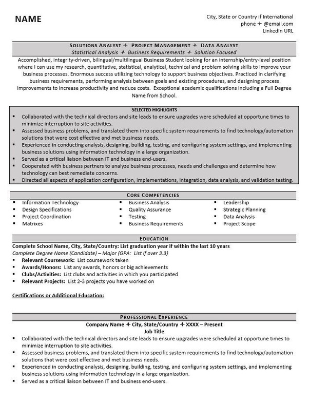 what should i put on my resume for grad school